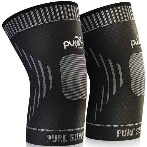 PURE SUPPORT Knee Brace Sleeve with Best Patella Compression, best knee brace for bikers in america, top knee brace support for biking.