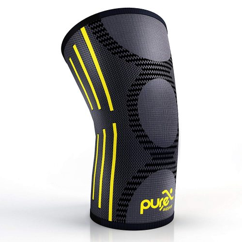 PURE SUPPORT Knee Brace Sleeve with Best Patella Compression, best knee brace for gymnastics, top knee brace support for athletics, gymnasts in america