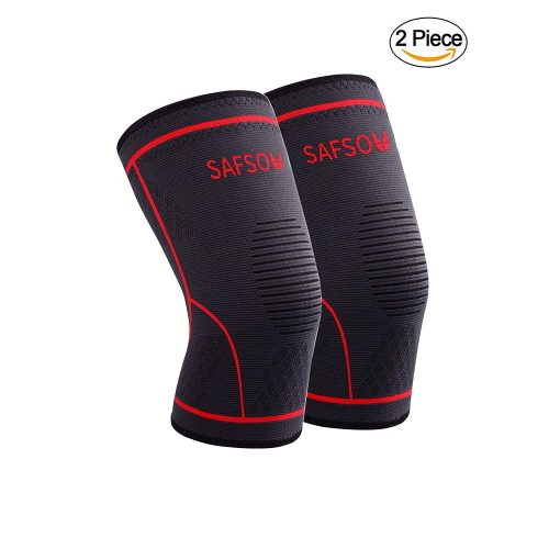 SAFSOU Knee Support Compression Sleeve, best knee brace for ice hockey players in america, top knee brace support for ice hockey players