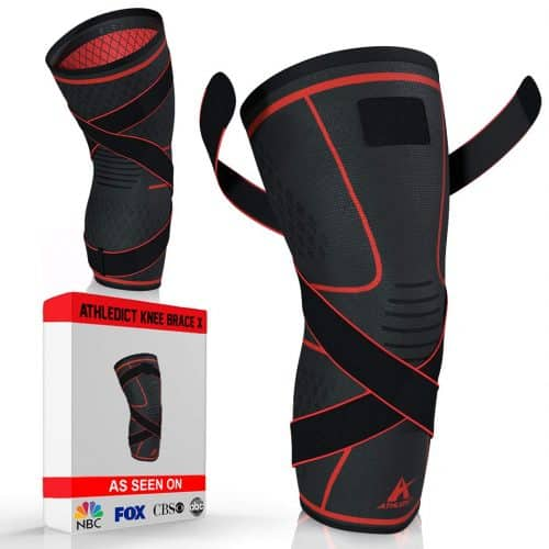 athledict knee brace for rugby, best knee brace for rugby players, top knee support compression sleeve for rugby