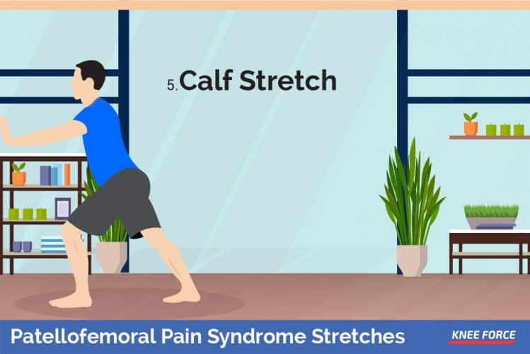 patellofemoral pain syndrome stretches, Your left leg should be bent and in line with your shoulders, pointed in front of you.