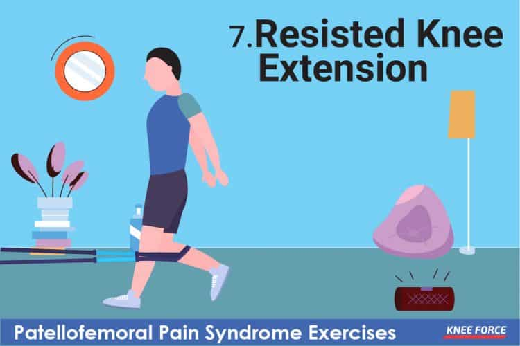 patellofemoral pain syndrome exercises, resisted knee extension for knee pain
