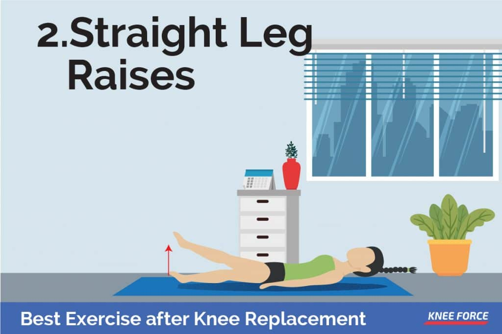 girl doing straight leg raises exercises For the quadriceps sets, you must start by tightening your thigh muscle. Attempt to straighten your knee and hold this position for 5 to 10 seconds.