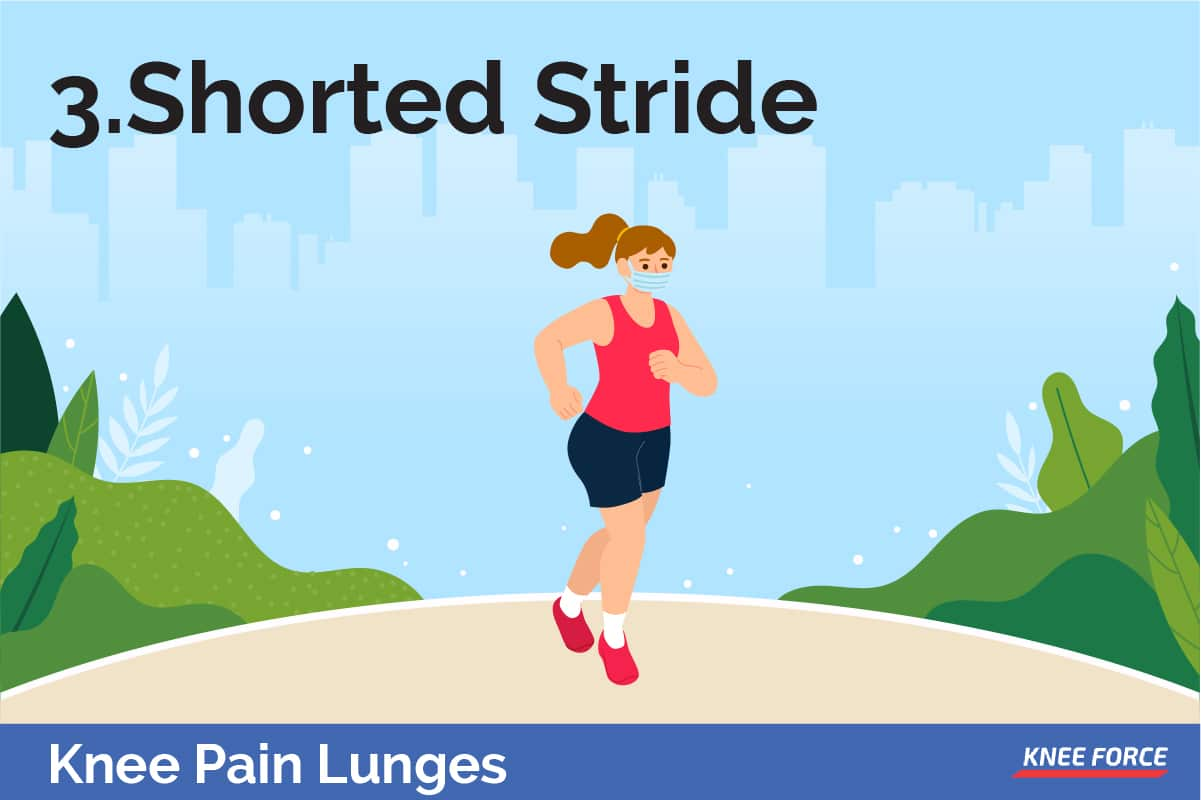 Start with a shorter length and allow your joints and muscles to get used to the movement and over time this stride length will extend to increase the physical demand.