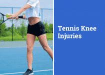 Common tennis knee injuries, girl playing tennis