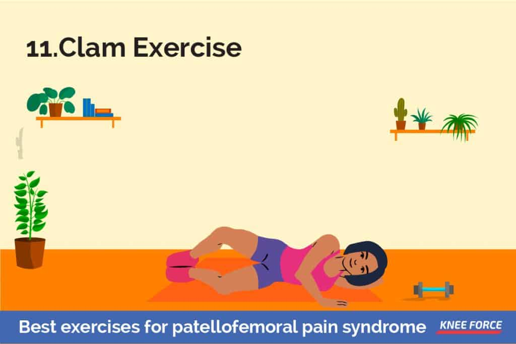 Lie on your uninjured side with your hips and knees bent and feet together