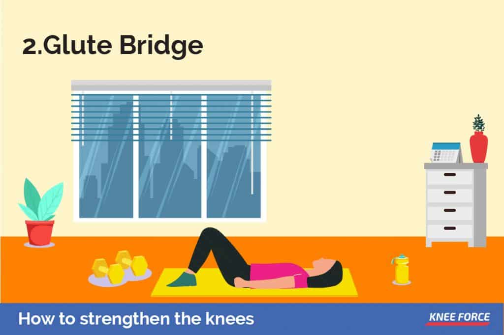 To work the entire lower half of the body then the glute bridge is a perfect exercise, focusing on the core