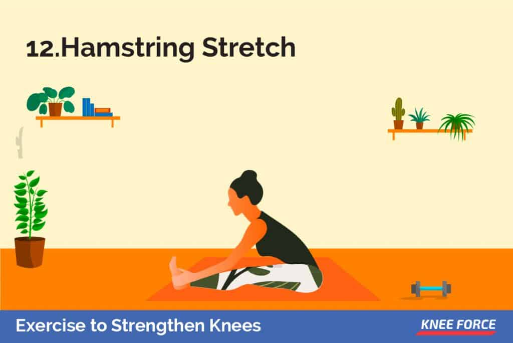 Lay on your back with your left leg flat on the floor Loop a towel or rope around the right foot, pulling your leg as far as is comfortable toward your chest.