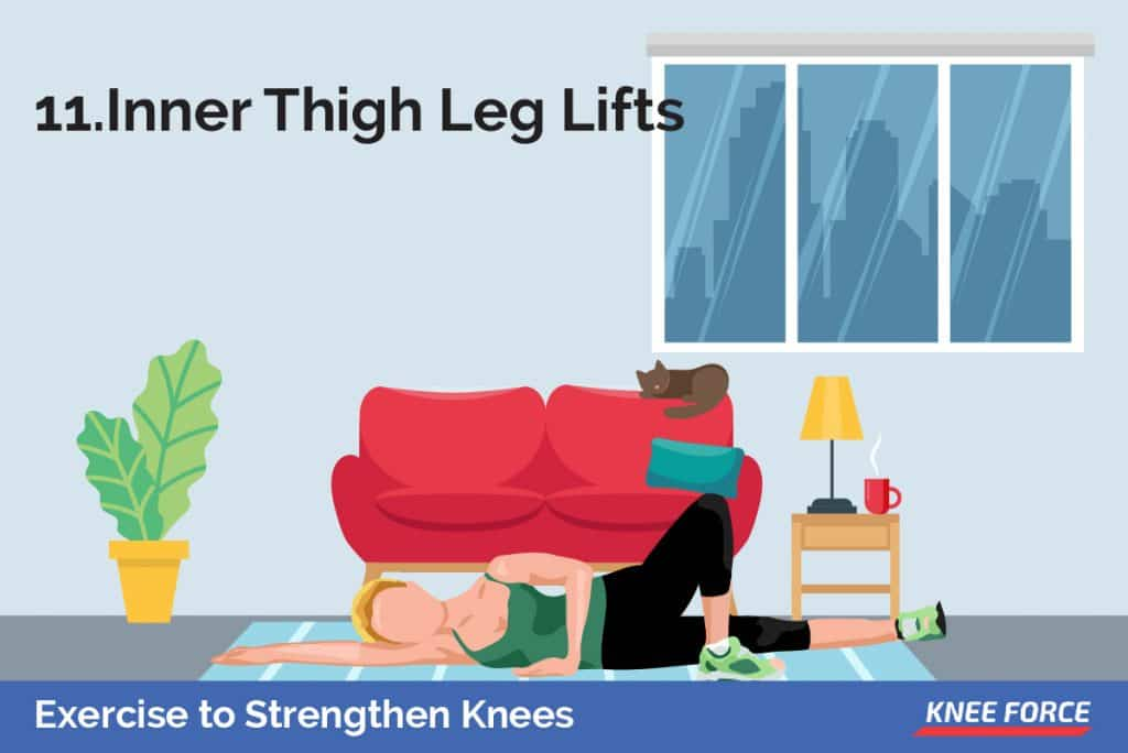 With ankle weights attached above the knee, lay on your left side, slightly back on your butt.