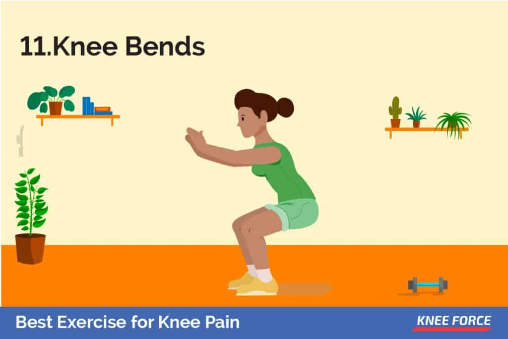 Stand a foot from the wall with your knees hip-width apart. Your feet should be positioned slightly outwards.
