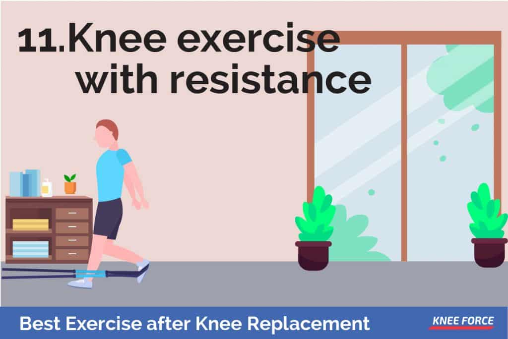 Place the weights around your ankles and repeat any of the exercises mentioned above for the early recovery stage.