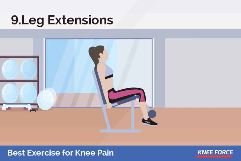 Extend one leg as high as possible while keeping your buttocks on the chair. Hold for 5 seconds and then lower to the starting position.