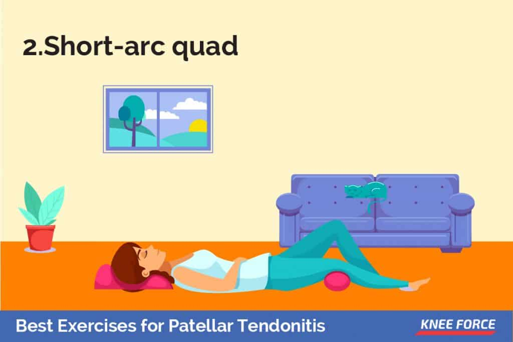 Lie on your back with your knees bent over a foam roll or large rolled-up towel and your heels on the floor.