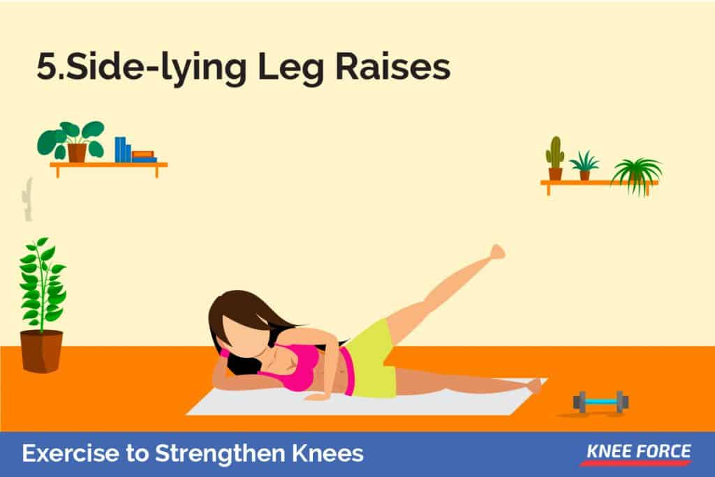 Lay on the left side of the body to begin and bend the left knee so that your left foot is behind your body.