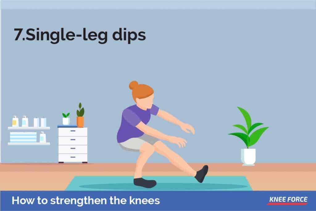 This exercise works your thighs, calves, glutes, and hamstrings. At the same time, it challenges your stability muscles which works on your balance