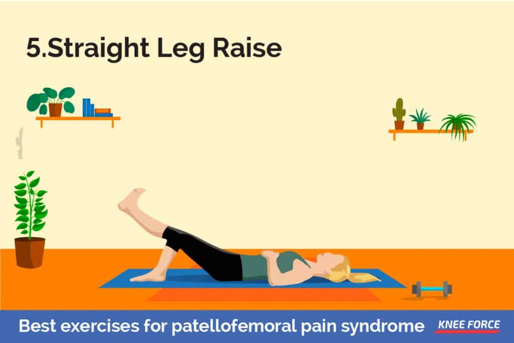 Lie on your back with your legs straight out in front of you. Bend the knee on your uninjured side and place the foot flat on the floor