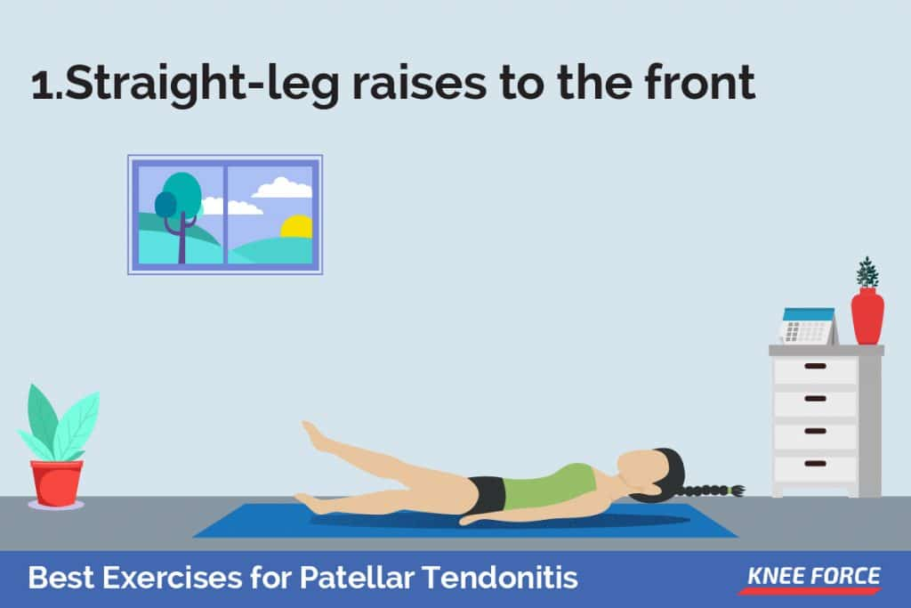 Lie on your back with your good knee bent so that your foot rests flat on the floor. Your affected leg should be straight.