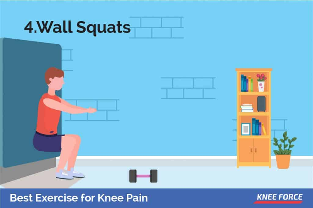 For a more advanced exercise to strengthen knee joints and surrounding muscles, you may want to consider incorporating wall squats into your regime.
