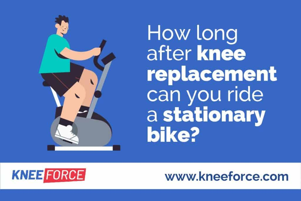 xpect to ride a stationary bike one to two weeks after your total knee replacement