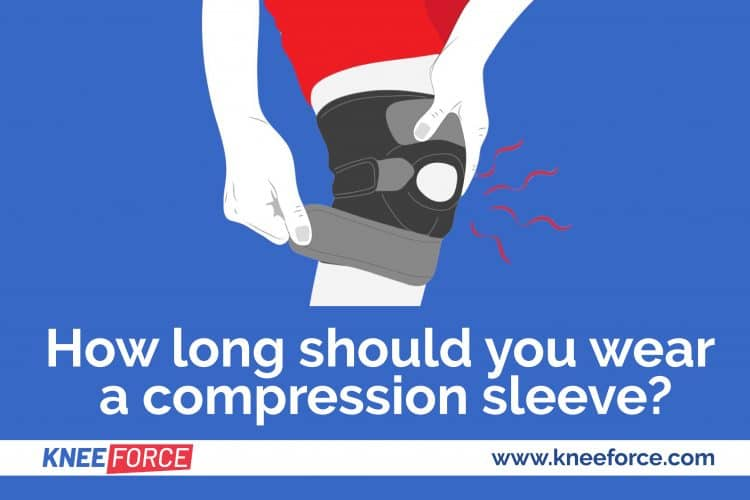 length of time that you should wear a knee compression sleeve is dependant on the type of injury you have sustained