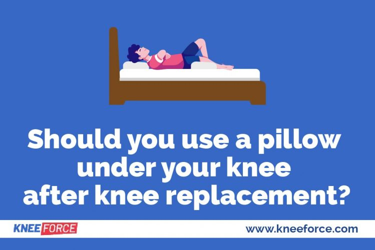 There is no position that is safe to put a pillow under your knee after arthroscopy or any other knee surgery