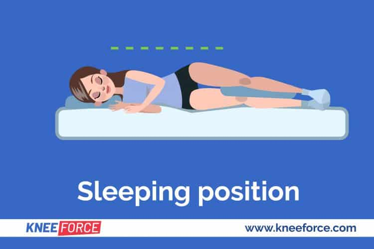 keep the injured leg on the outside of the bed