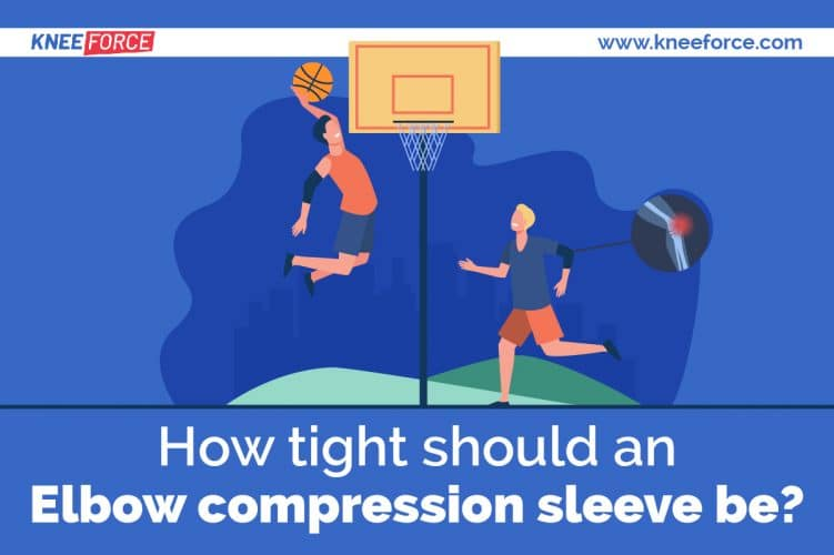 men playing basketball with elbow compression sleeves and knee compression sleeves